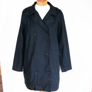 Eileen Fisher charcoal linen trench coat